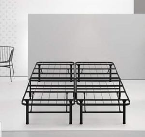 Queen Size Bed Frame Metal Steel Bedroom Furniture Platform, No Box Spring Needed for Sale in Wilkes-Barre, PA