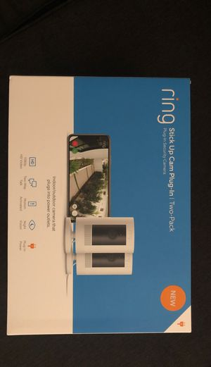 2-pack Ring stickup Cam Plug-in Indoor/outdoor camera for Sale in Los Gatos, CA
