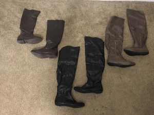 3 pairs of knee high boots for Sale in West Palm Beach, FL