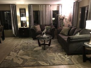 Couch and love seat (used for three weeks) for Sale in Mountain Center, CA