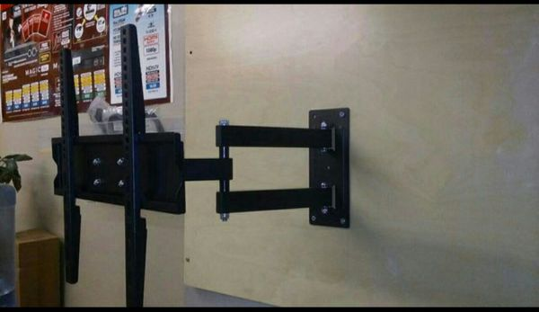 "Tv Wall Mount Universal Full Motion Very Strong Size Support 23"" to 56"" Swivel 180° Tilt 15° 88 Lbs Max Load Arm extends 60~480mm Brand New In Box"