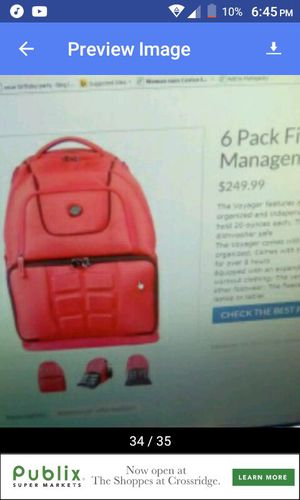 6 pack fitness backpack for Sale in North Chesterfield, VA