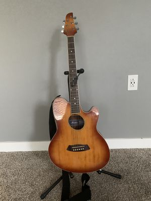 Ibanez Acoustic Electric Guitar with stand for Sale in Salt Lake City, UT