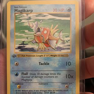Grey Stamp 1st Edition magikarp for Sale in West Palm Beach, FL