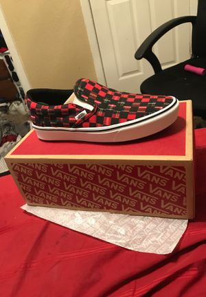 Red & Black Vans for Sale in Fort Worth, TX