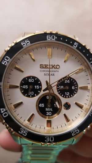 Seiko chronograph solar, water resistant 100 m brand new never used, no box for Sale in Industry, CA