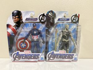 Hasbro Marvel Avengers CAPTAIN AMERICA and CHITAURI 6 Inch Action Figure Set for Sale in Pompano Beach, FL