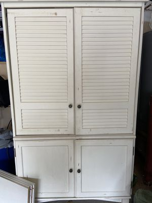 Pottery Barn Entertainment Center WITH two bookshelves for Sale in Mystic Islands, NJ