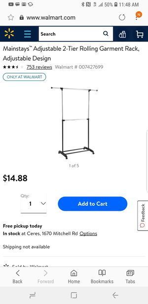 Rolling garment cart/closet organizer. Adjustable. Brand new. I have 2. for Sale in Modesto, CA