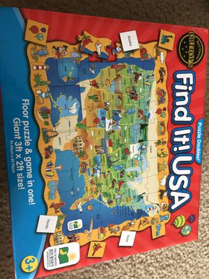 Find It! USA Floor Puzzle for Sale in Katy, TX