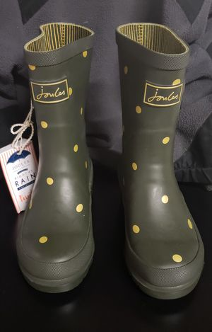 NEW- Green/Gold Joules Rain Boots size 12c kids for Sale in Renton, WA