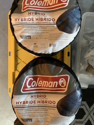 Coleman Hybrid Sleeping Bag x2 for Sale in Portland, OR
