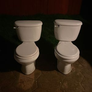 Pair Of Porcelain Toilets After Remodel for Sale in Battle Ground, WA