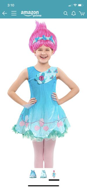 Trolls Poppy costume with wig 3-4t for Sale in Pico Rivera, CA