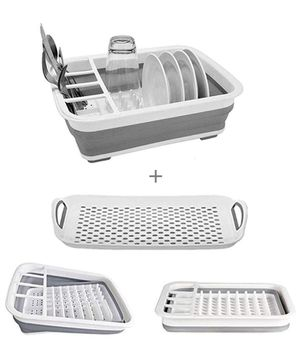 Collapsible Dish Drying - Rack with Drainer Board Set Portable Dish Drainers fNew Small Kitchen Camper RV Caravan Travel Trailer for Sale in Cheshire, CT
