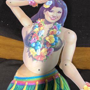 Vintage Hawaiian Hula Girl Cardboard Cutout for Sale in La Habra, CA
