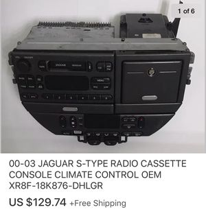 00-03 JAGUAR S-TYPE RADIO CASSETTE CONSOLE CLIMATE CONTROL OEM XR8F-18K876-DHLGR for Sale in Marysville, WA
