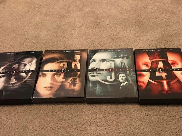 X-Files Season 1-4 DVDs