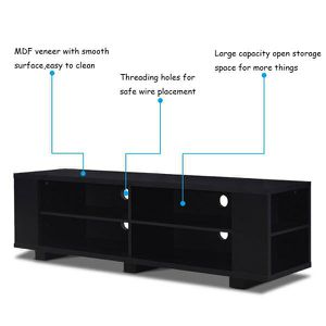 Wood TV Stand Console Storage Entertainment Media Center w/ Adjustable Shelf for Sale in Pomona, CA