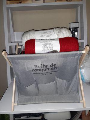 Bundle of yarn and bin for Sale in Bellevue, WA