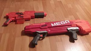 Starwars lightup nerf gun and one mega nerf gun for Sale in Stockton, CA
