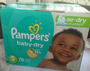 Diapers, Pampers baby-dry Size 5 for Sale in Compton, CA