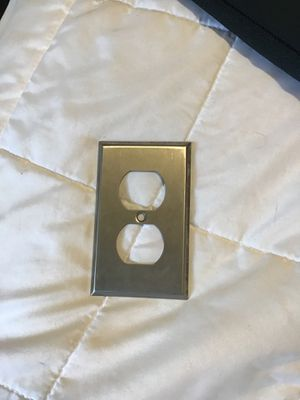 Stainless steel Receptacle cover plate for Sale in Lexington, NC