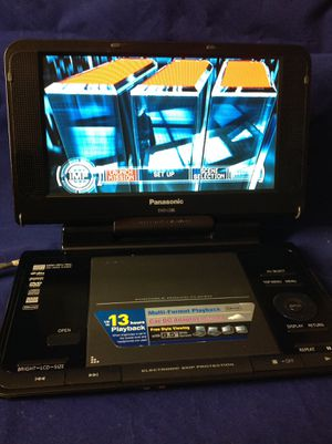 """Panasonic DVD portable player, wide screen, it works very well.. 8.5"""" wide screen DVD player. It works very well. No battery. Comes with power adapt for Sale in Richardson, TX"""
