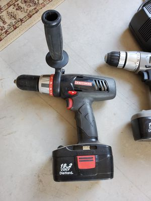 Craftsman drills with chargers for Sale in Queen Creek, AZ