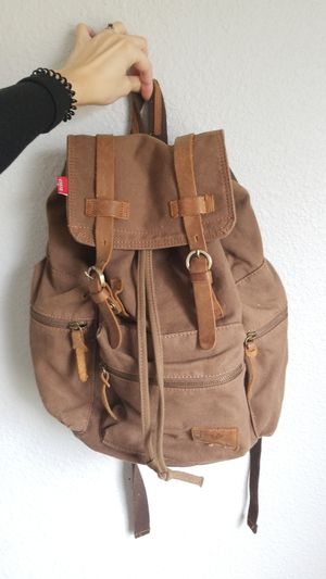 Brown canvas backpack for Sale in Tacoma, WA