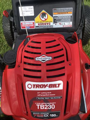 Troy -Bilt Lawn Mower Tb 230 ex 190 it isn't work just for parts for Sale in Lincoln, NE