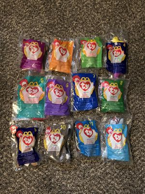 McDonald's 1998 Beanie Babies Complete Set of 12 Brand New for Sale in Fresno, CA