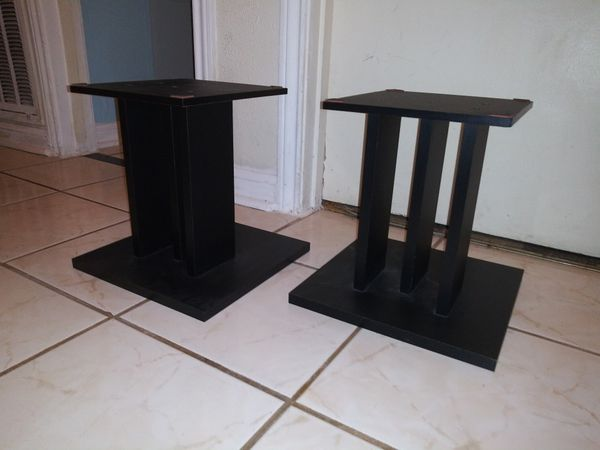 2 small black stands 12 inches tall x 12 x 12
