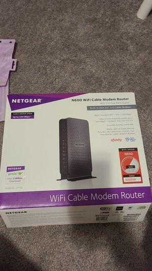 Netgear wifi cable modem router for Sale in Oviedo, FL