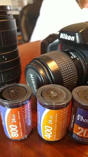 Nikon N70 film camera and film with extra lense for Sale in Monroe, NC