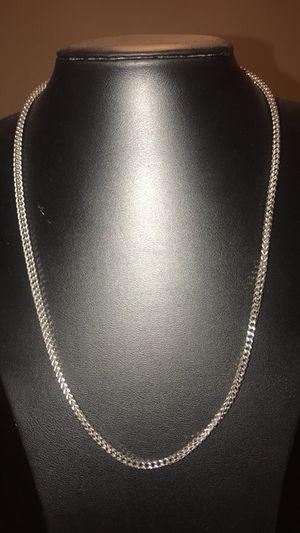 "White Gold 24"" Franco Wheat Chain. Brand new! for Sale in Seattle, WA"