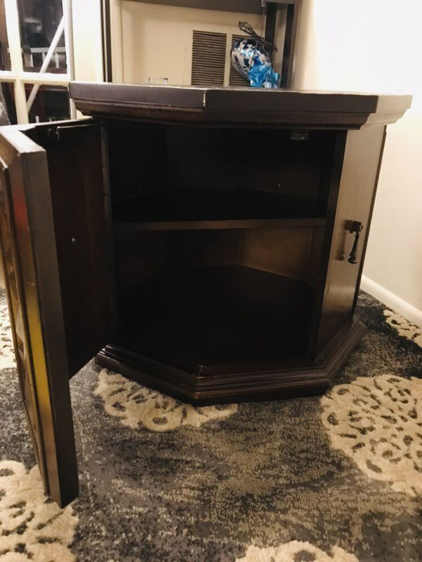 Moving sale for Side End Hexagon Table with storaged