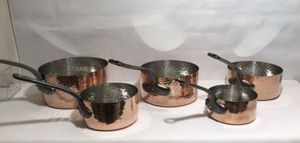 Baumalu Copper Cookware Noble Medal 5 Pan Set. New set of made in France for Sale in Santa Ana, CA