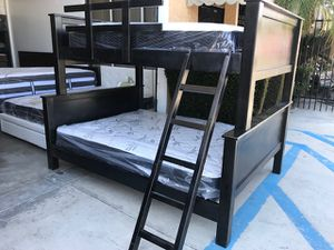 Full Over Queen Bunk Bed (Mattresses Included) for Sale in Lynwood, CA