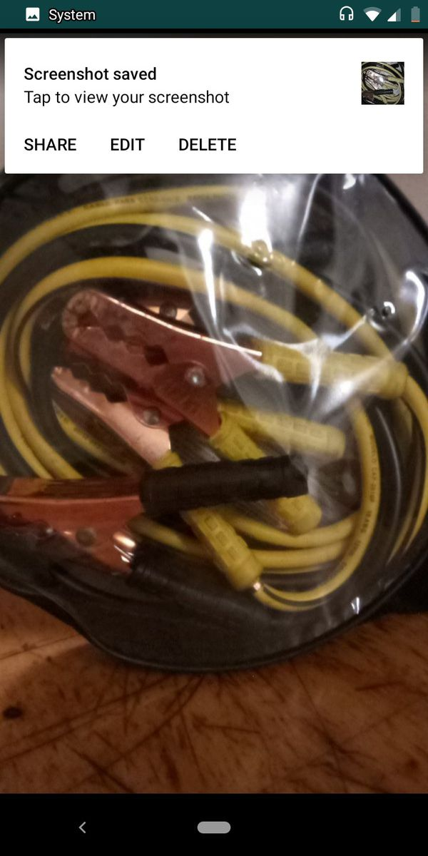 Car battery cables