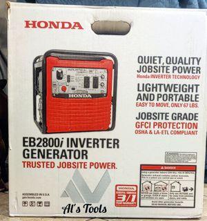 Honda eb2800i gas inverter generator brand new for Sale in Paramount, CA