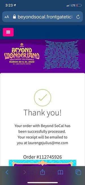 VIP Beyond Wonderland Music Festival VIP Tickets for Sale in Beverly Hills, CA
