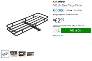 """Haul Master Cargo Carrier 2"""" hitch for Sale in Los Angeles, CA"""