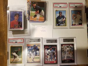 Bowman baseball cards Chipper and Frank Thomas rookie PSA 10, Griffey 9, Jeter 9 for Sale in Murfreesboro, TN