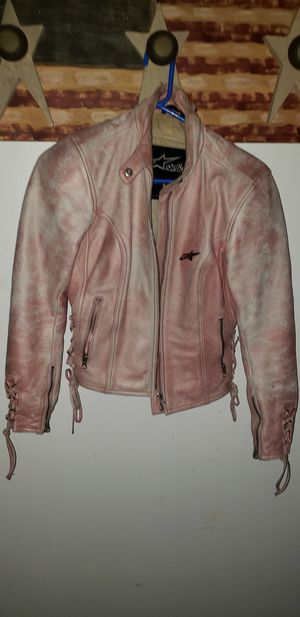 Motorcycle gear small leather faded pink style for Sale in South River, NJ