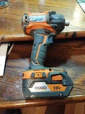 Ridgid generation 5x brushless r86036 stealth 3-speed impact driver with 4-Hour battery for Sale in Vancouver, WA