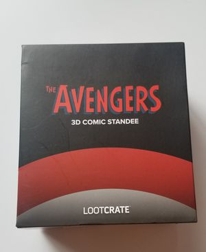 Loot Crate Exclusive Marvel Captain America The Avengers 3D Comic Standee NEW in box! Collectible! for Sale in Marysville, WA