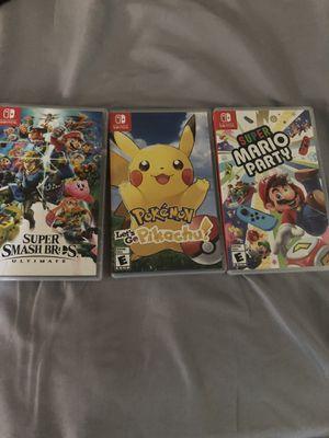 Nintendo switch games for Sale in Chula Vista, CA