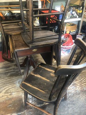 Antique folding table for Sale in Bristow, VA