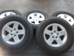 5x jeep WRANGLER wheels rims TIRES for Sale in Torrance, CA